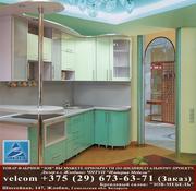 Кухня Зов с фасадами из МДФ крашеного система глянец тип 186/188