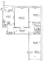 3-х комнатная ,  приватизированная квартира Жлобин